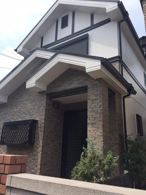 高槻市T様邸 一軒家 壁塗り替え 雨漏り サイディング 屋根塗装のサブ画像01