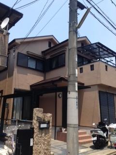 2014年5月 高槻市高垣町M様邸 外壁・屋根塗装工事。の画像