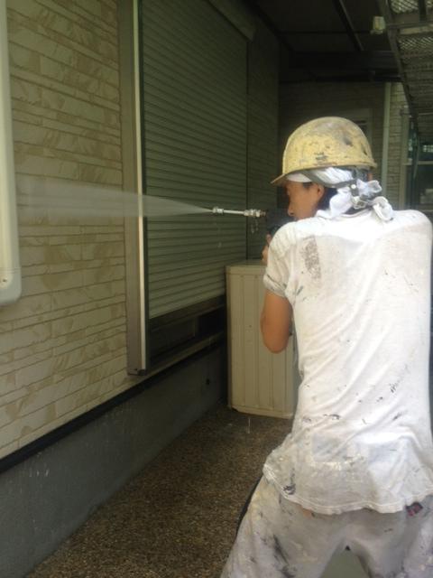 2012.8.31都島区 岩崎様 外壁高圧洗浄.JPG