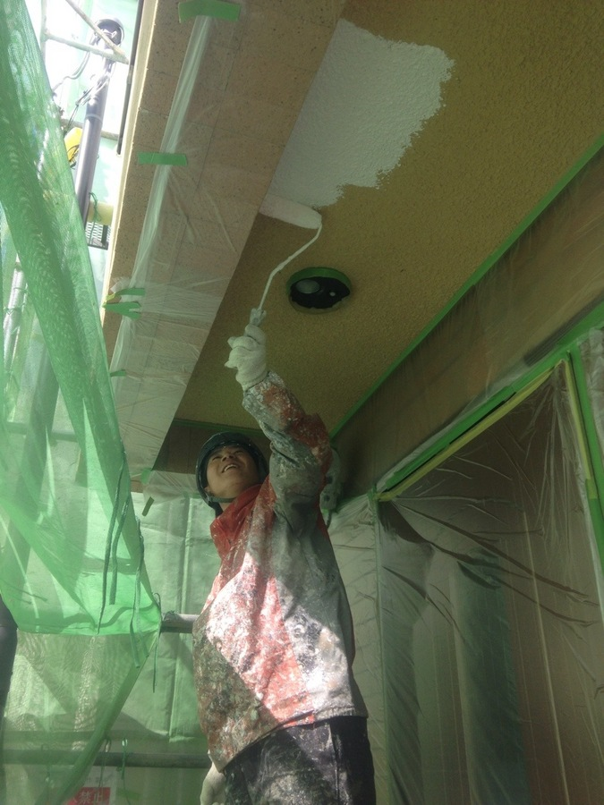 3.21淀川区 金沢様 外壁下塗り.JPG