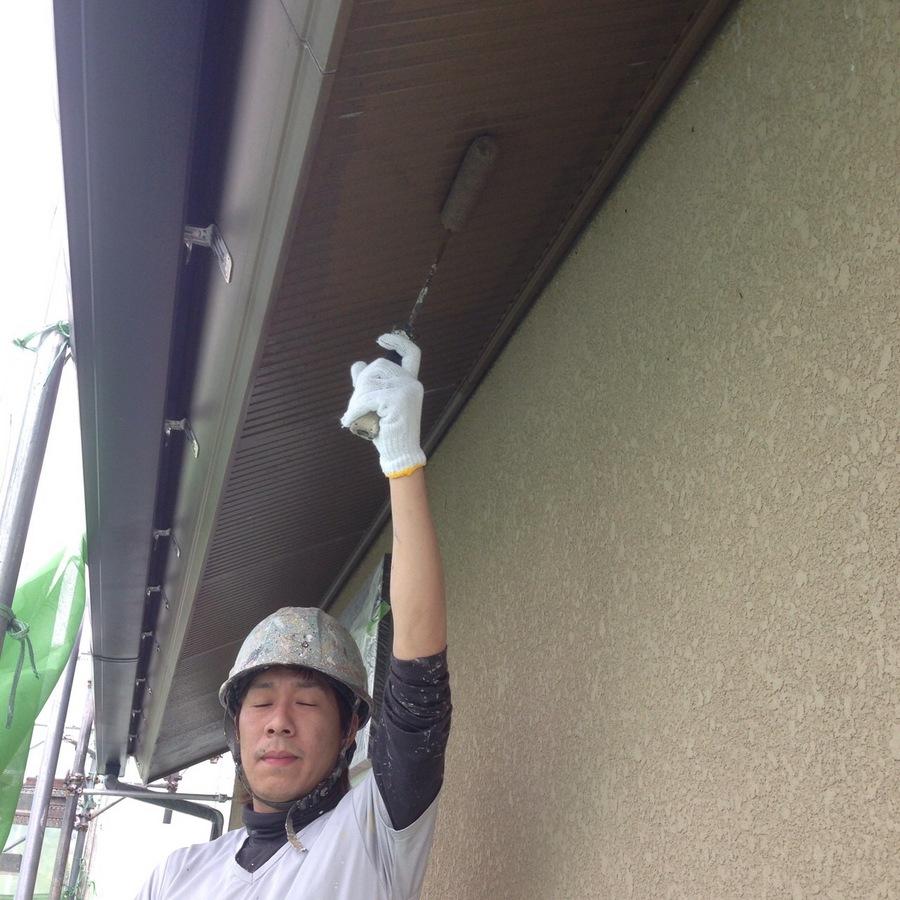 4.16池田市 田中様邸 軒天塗装.JPG