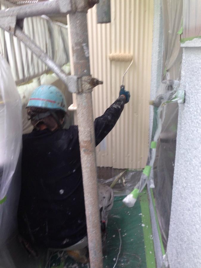 5.13東大阪市 増田様邸 トタン壁上.JPG