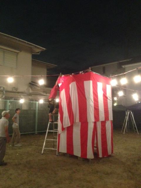 8.22高垣町 夏祭り設置.JPG