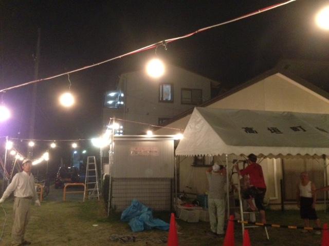 8.22高垣町 夏祭り設置2.JPG
