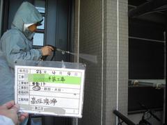八尾市 I様邸 外壁塗装作業。の画像