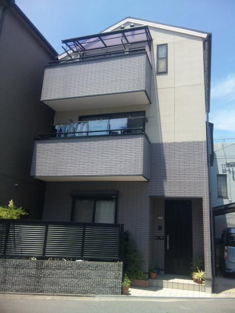 2014年1月 茨木市穂積台A様邸、外壁塗装工事。の画像