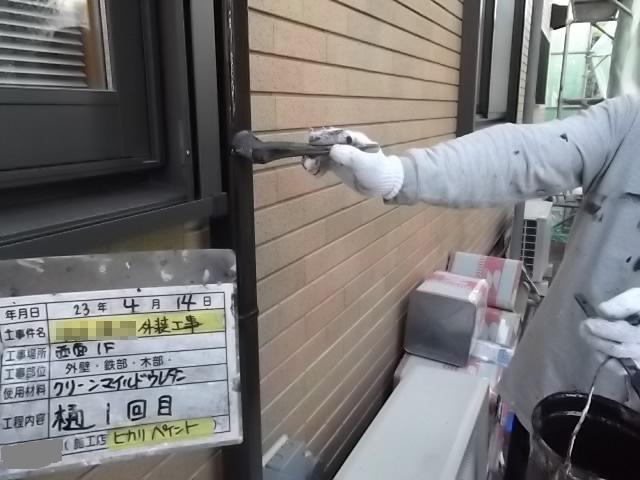 豊中市 N様邸 外壁塗装工事作業。のサブ画像03