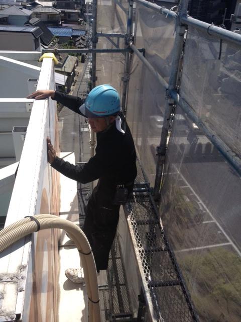2013年5月 高槻市上田辺のマンション外壁塗装。のサブ画像02