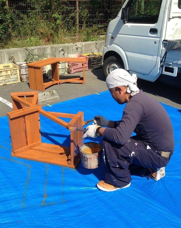 外用ベンチ塗り替え 和歌山県 道の駅のサブ画像01